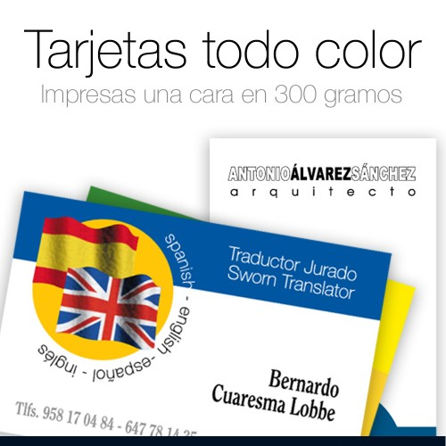 Tarjetas a color