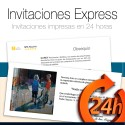 Invitaciones EXPRESS 24 HORAS