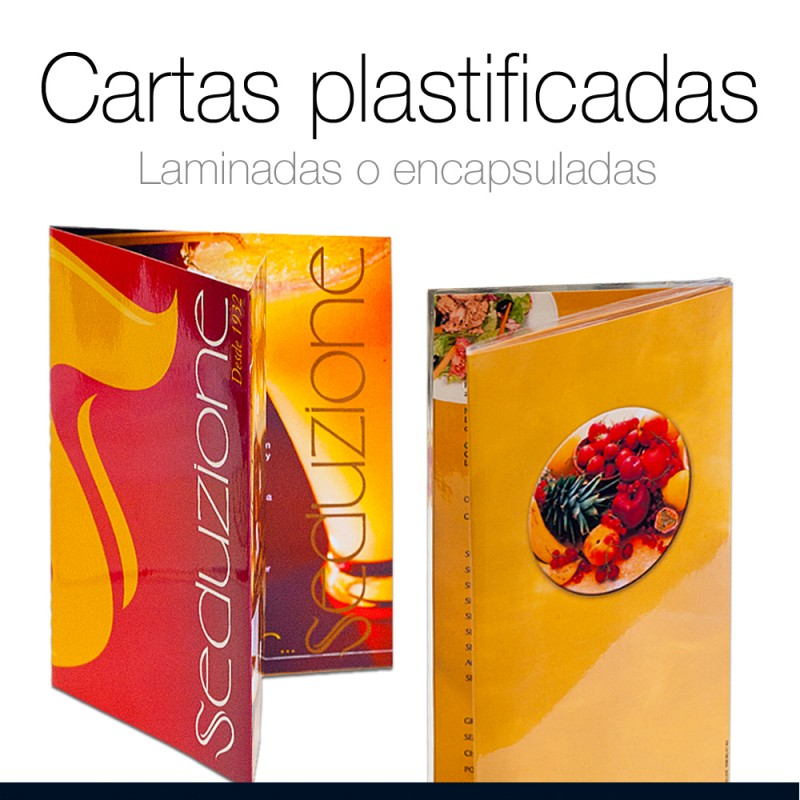 Cartas Restaurante plastificadas