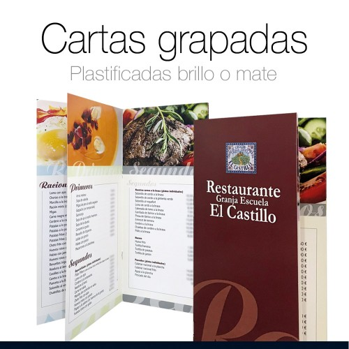 Cartas de Restaurante grapadas
