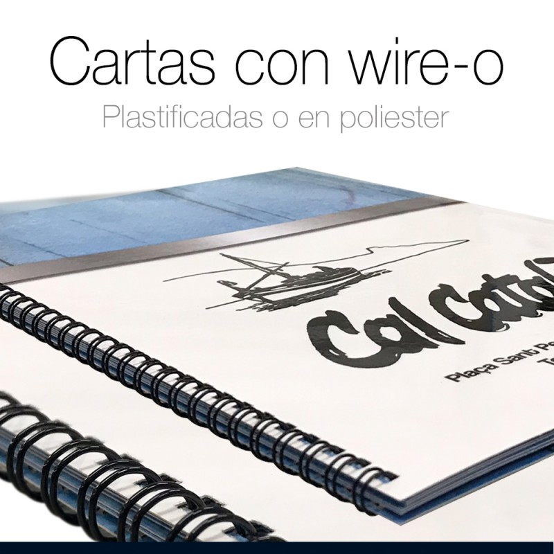 Cartas de Restaurante con wire-o